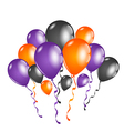 Set colorful balloons for Halloween party vector image vector image