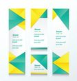 set of abstract banner yellow and green style vector image vector image