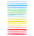 set of colorful watercolor lines vector image vector image