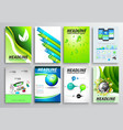 Set of Flyer Design Infographic layout Brochure vector image