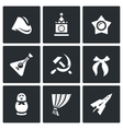 Set of Russia country Icons Soldier field vector image vector image