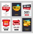 set of sale website banner templates