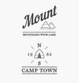 set summer camp badges with design element vector image