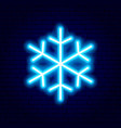 snowflake neon sign vector image