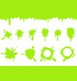 spill green slime splash flowing dripping splatter vector image