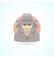 Spy secret service agent detective icon Avatar vector image