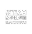 steam education concept outline banner or vector image