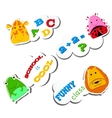 Stiker Funny animals vector image vector image