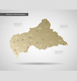 stylized central african republic map vector image vector image