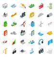 technology icons set isometric style vector image vector image