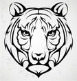 Tiger Head Tattoo vector image vector image