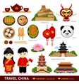 travel to china flat vector image vector image