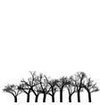 trees background black and white texture vector image