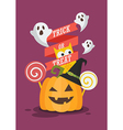 Trick or Treat Halloween poster vector image