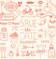 Wedding Doodle Designs vector image
