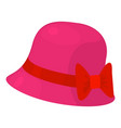 woman hat icon cartoon style vector image