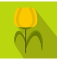 Yellow tulip icon flat style vector image vector image