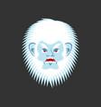 yeti angry emoji bigfoot evil emotion face vector image vector image