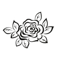 Rose Flower Black Pictogram vector image