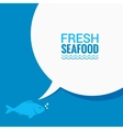 Fish Speech Bubble Says Food Design Background vector image