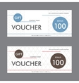 template design gift voucher with abstract vector image