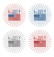 4th july american independence day set vector image vector image