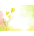 abstract watercolour background with tulips vector image vector image