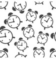 alarm clock seamless pattern background icon vector image