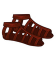 ancient maya clothes leather shoes or sandals vector image vector image