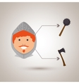 ancient warrior design vector image