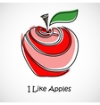 Apples-05 vector image vector image