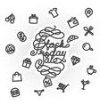 Black Friday Sale lettering vector image