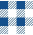 blue and white gingham tablecloth seamless pattern vector image vector image