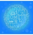 Blue geometry background vector image vector image