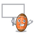 bring board rugby ball character cartoon vector image vector image