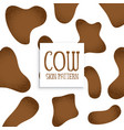 brown cow skin pattern design vector image