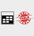 calendar week items icon and grunge table vector image vector image