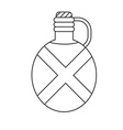 camping flask outline icon tourist bottle isolated vector image vector image