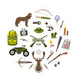 camping trip equipment collection accessories and vector image vector image