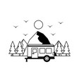 camping wanderlust image vector image vector image