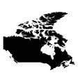 canada - solid black silhouette map of country vector image