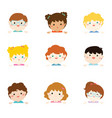 cartoon collection of little children portraits vector image vector image