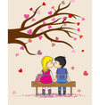 Children they kiss vector image vector image