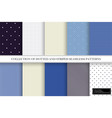 collection color delicate patterns simple vector image vector image