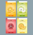 Colorful Fruit banner for app design 1 vector image