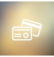 Credit card thin line icon vector image vector image
