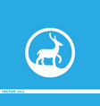 cute deer stamp logo vector image