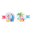 different world weather cold hot temperature vector image vector image