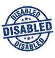 Disabled blue round grunge stamp