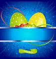 easter festive background with copy space and eggs vector image vector image
